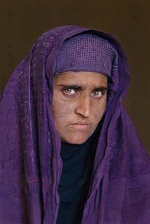 Steve McCurry, Afghan Girl Revisited, Sharbat Gula Pakistan 2002, Ilfochrome Photograph