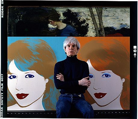 Harry Benson ,   Andy Warhol Portrait  Edition of 35  ,  1983     photograph ,  24 x 30 in. (61 x 76.2 cm)     HB121110