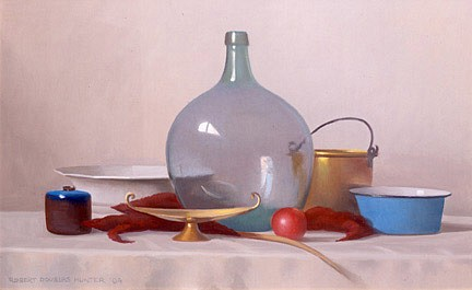 Robert Douglas Hunter, Arrangement with a Pale Green Bottle 2006, oil on canvas
