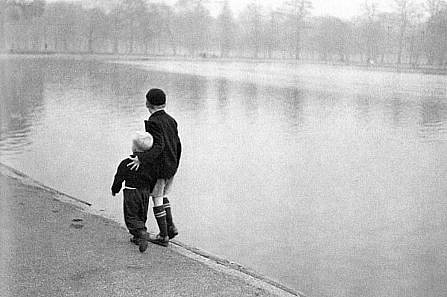 Ruth Orkin ,   Brothers, Hyde Park, London  ,  1951     Photography ,  11 x 14 in. (27.9 x 35.6 cm)     RO031207