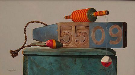 Robert E. Zappalorti, Buoy 5509 2013, oil on panel