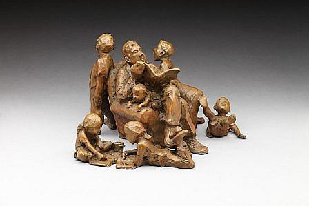 Jane DeDecker, Grandpa, Ed. 3/31 2003, bronze
