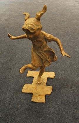 Jane DeDecker ,   Hopscotch, Ed. of 31  ,  2004     bronze ,  13 1/2 x 11 x 8 1/2 in. (34.3 x 27.9 x 21.6 cm)     JDD1504