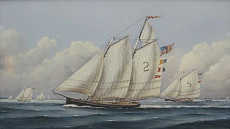 Nicholas Berger, In Tow 2008, oil on board