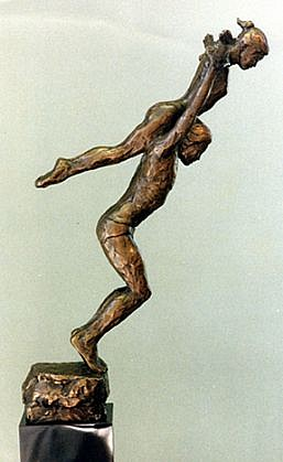 Marc Mellon ,   Javelyn, Edition of 9  ,  1992     bronze ,  19 x 3 1/2 x 12 in. (48.3 x 8.9 x 30.5 cm)     MM070606