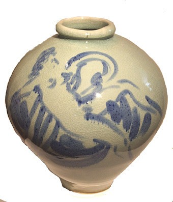 Reuben Nakian, Leda and the Swan 1984, porcelain