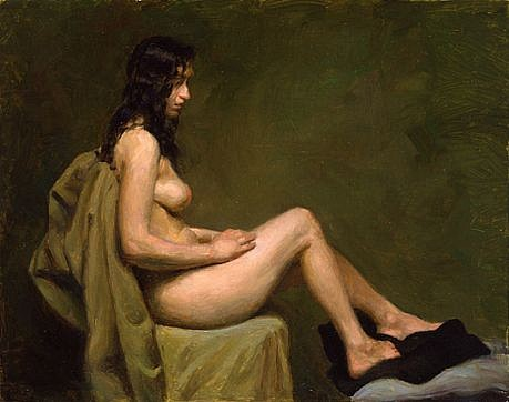 Max Ginsburg, Nude Study 2008, oil on masonite