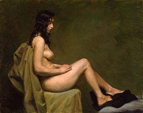 Max Ginsburg, Nude Study 2008, oil on masonite