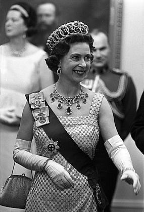 Harry Benson ,   Queen Elizabeth, Ottawa Canada, Edition of 35  ,  1961     photograph     HB1204125