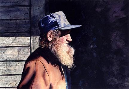 Douglas Wiltraut, Soft as Suede watercolor