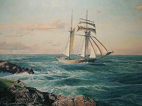 Maarten Platje, The Inbound Coaster oil on canvas