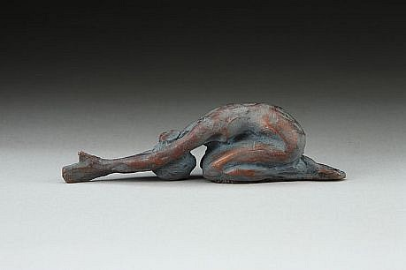 Jane DeDecker ,   Tranquil, Ed. of 31  ,  2007     bronze ,  7 x 2 x 1 1/2 in. (17.8 x 5.1 x 3.8 cm)     JDD011008