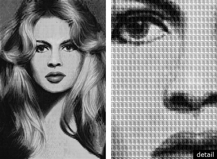 Alex Guofeng Cao, Brigitte Bardot vs. Catherine Deneuve, after Avedon 2010, chromogenic print with Dibond plexiglass