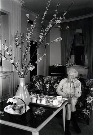 Bob Colacello, Andy Warhol, Naples, Italy c. 1975, silver gelatin photograph