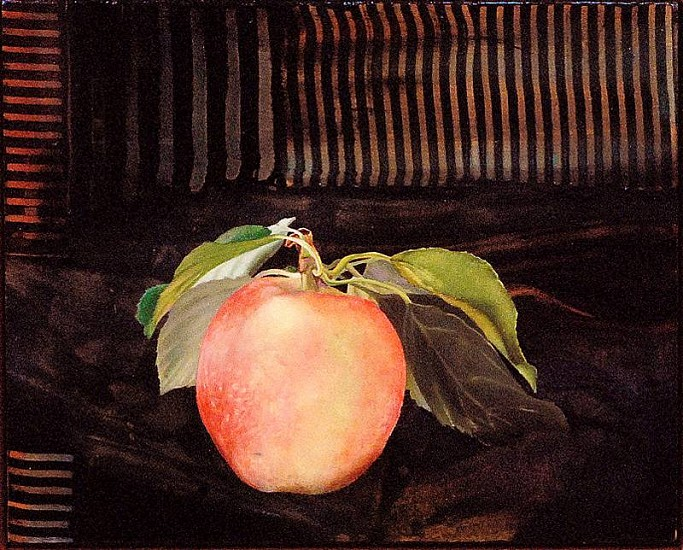 Steve Hawley, Apple with an Attitude 2010, oil, wax, alkyd on panel