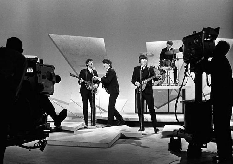 Harry Benson, Beatles Ed Sullivan Show with cameras, Ed. 11/35 1964, archival pigment print
