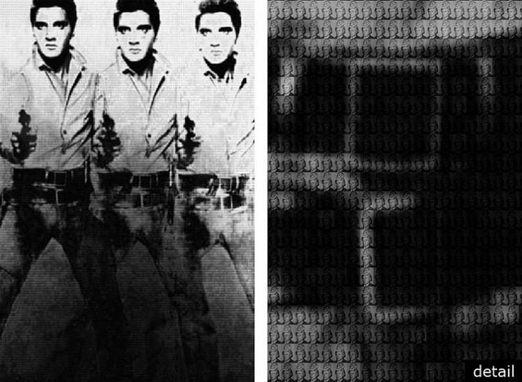 Alex Guofeng Cao, Elvis vs Warhol 2012, chromogenic print with Dibond plexiglass