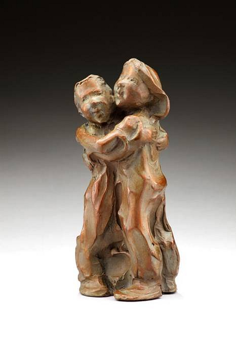 Jane DeDecker ,   Hug O War, Edition of 31  ,  2009     bronze ,  7 1/2 x 3 1/2 x 3 in. (19.1 x 8.9 x 7.6 cm)     JD060909