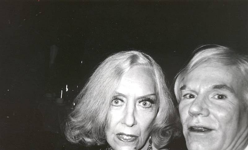 Bob Colacello, Gloria Swanson and Andy Warhol, Cartier Party c. 1975, silver gelatin photograph