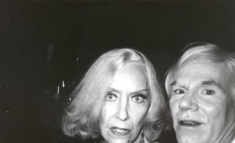 Bob Colacello, Gloria Swanson and Andy Warhol, Cartier Party c. 1975, silver gelatin photograph