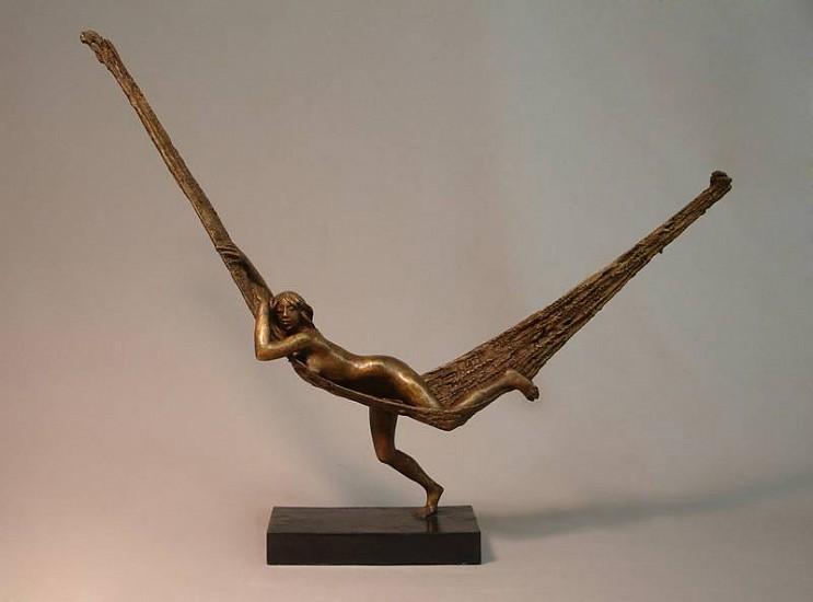 Bruno Lucchesi, Hammock, Ed. 1/6 1981, bronze