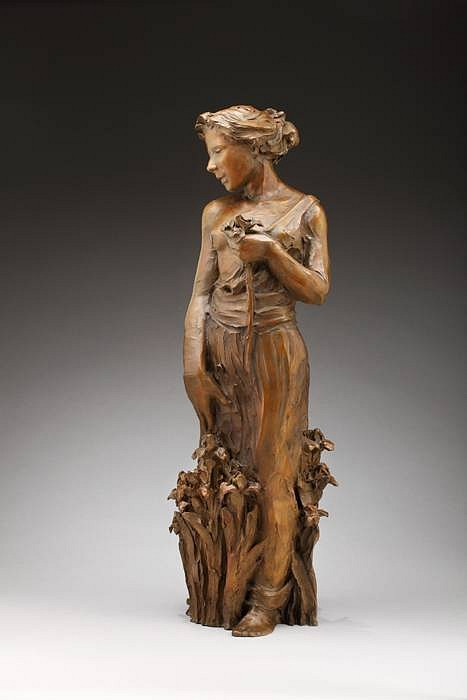 Jane DeDecker ,   Iris, Ed. of 17  ,  2010     bronze ,  41 x 15 x 14 in. (104.1 x 38.1 x 35.6 cm)     JDD100110