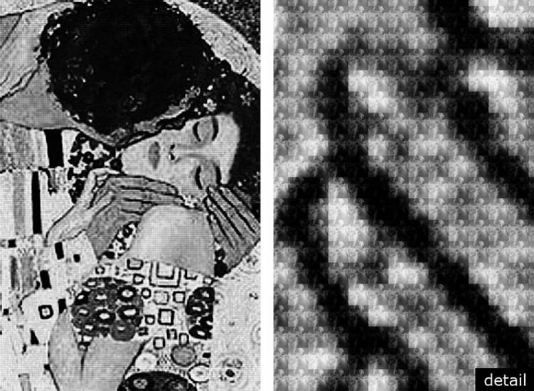 Alex Guofeng Cao, Kiss Klimt vs Rodin 2012, chromogenic print with Dibond plexiglass