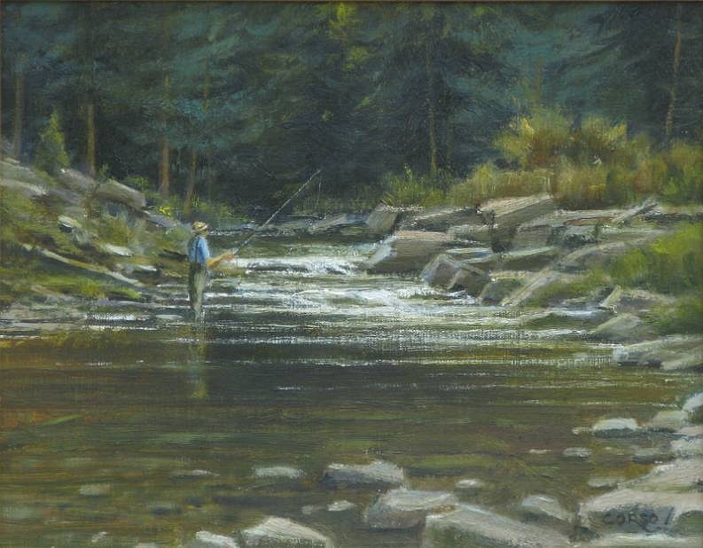 Frank Corso ,   Moving Waters      oil on canvas ,  11 x 14 in. (27.9 x 35.6 cm)     FC120602