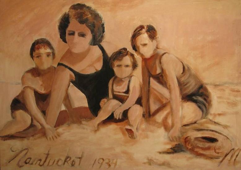 Molly Dee, Nantucket 1934 1990, mixed media on canvas
