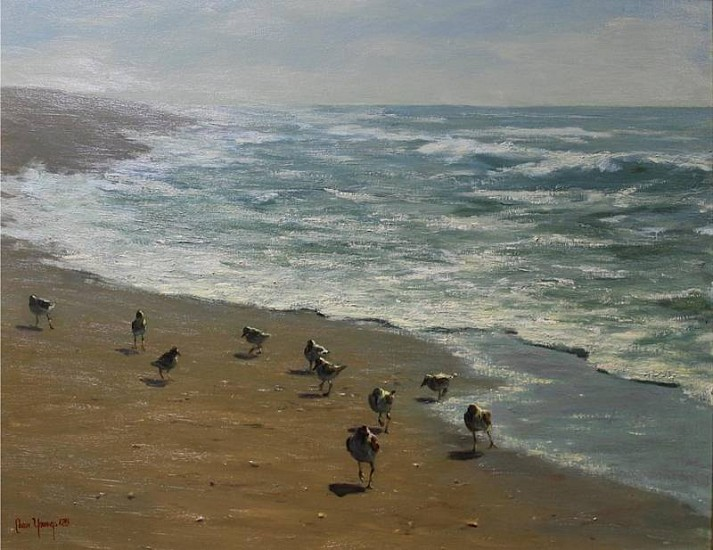 Shirley Cean Youngs, On the edge of the wave 2012, oil on canvas