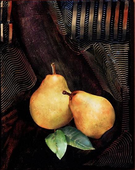 Steve Hawley, Pondering Pears 2010, oil, wax, alkyd on panel