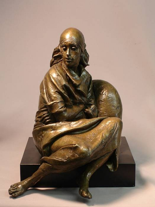 Bruno Lucchesi ,   Resting, Edition of 6  ,  1979     bronze ,  14 x 11 x 13 in. (35.6 x 27.9 x 33 cm)     BL010608     $14,000