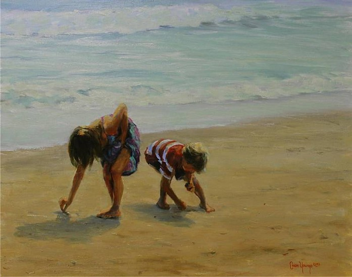 Shirley Cean Youngs, Seaborn treasures 2012, oil on canvas