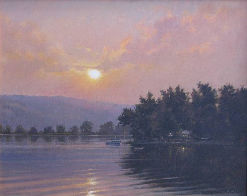 Frank Corso ,   Evenings Rest      oil on canvas ,  24 x 30 in. (61 x 76.2 cm)     FC120701