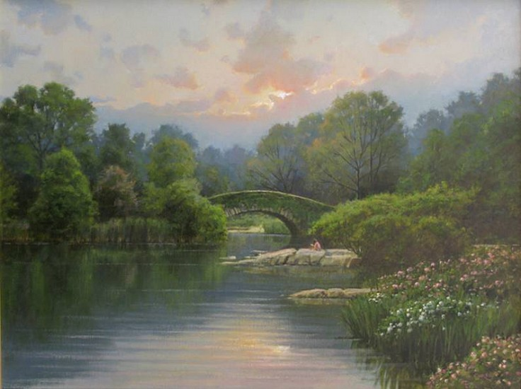 Frank Corso, The Onset of Evening, Central Park 2013, oil on canvas