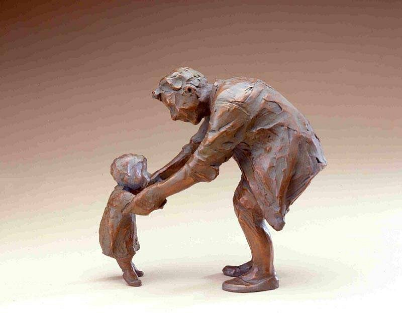 Jane DeDecker ,   Tippy Toes, Ed. of 21  ,  2003     bronze ,  9 x 9 x 5 in. (22.9 x 22.9 x 12.7 cm)     JD101204