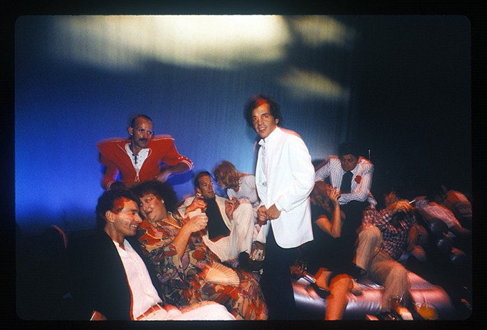 Harry Benson ,   Steve Rubell, Halston, Lorna Luft, Pat Ast at Studio 54, New York, 1978      archival pigment print ,  40 x 60 in. (101.6 x 152.4 cm)     HB131203