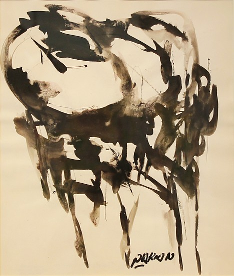 Reuben Nakian, Hecuba 1960-1962, black ink and wash on paper
