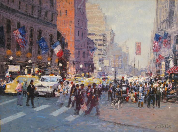 John Terelak, Crosswalk 2013, oil on canvas