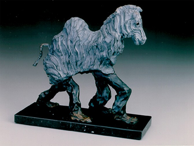 Jane DeDecker ,   Wildlife, Ed. of 21  ,  1990     bronze ,  12 x 11 x 4 in. (30.5 x 27.9 x 10.2 cm)     JD02122005