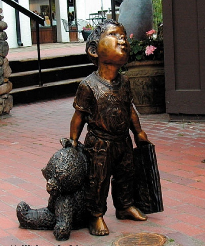 Jane DeDecker ,   Book and Bear, Ed. of 31  ,  2005     bronze ,  32 x 24 x 24 in.     JD10505
