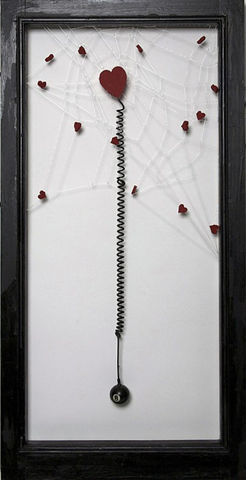 Debranne Cingari (ASSEMBLAGES) ,   Temptress  ,  2011     mixed media assemblage ,  35 1/2 x 18 in. (90.2 x 45.7 cm)     DC110401