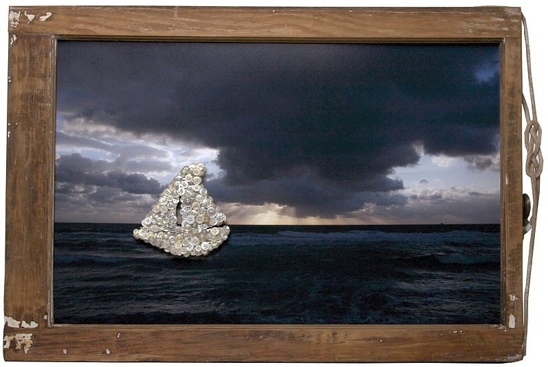Debranne Cingari (ASSEMBLAGES) ,   Jacobs Ladder at Sea  ,  2011     mixed media assemblage ,  22 x 32 in. (55.9 x 81.3 cm)     DC110402