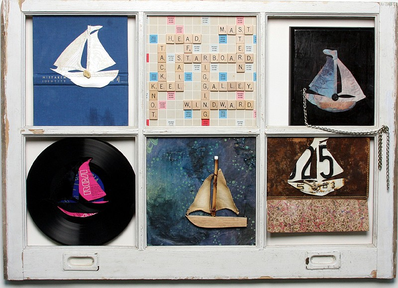 Debranne Cingari (ASSEMBLAGES) ,   Boat  ,  2010     mixed media ,  24 1/2 x 34 1/2 in. (62.2 x 87.6 cm)     DC051001