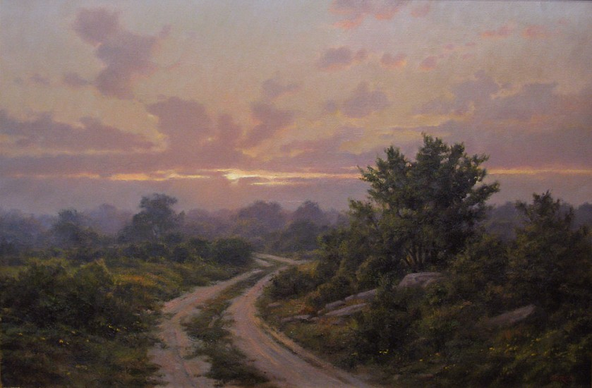 Frank Corso, Incoming Evening Fog 2008, oil on canvas