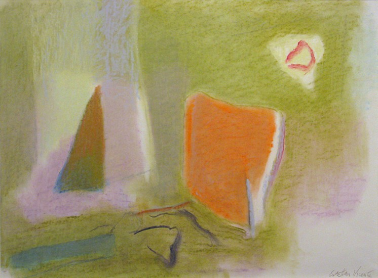 Esteban Vicente, Untitled 1995, drawing on paper