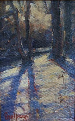 Shirley Cean Youngs ,   By the River Bank  ,  2006     oil on canvas ,  4 x 6 in. (10.2 x 15.2 cm)     SCY021106