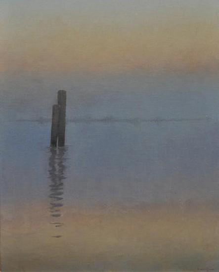 Edward Minoff, Monolith No. 2 2013, oil on board