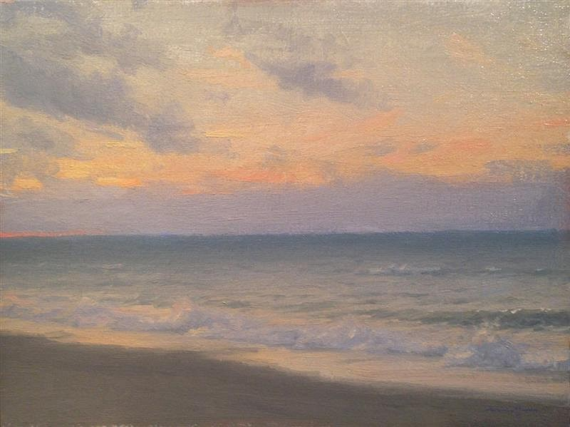 Edward Minoff, Dawn, Study 2013, oil on board