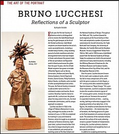 Bruno Lucchesi Press: The Art of the Portrait: BRUNO LUCCHESI Reflections of a Sculptor, July  1, 2015 - International Artist Magazine